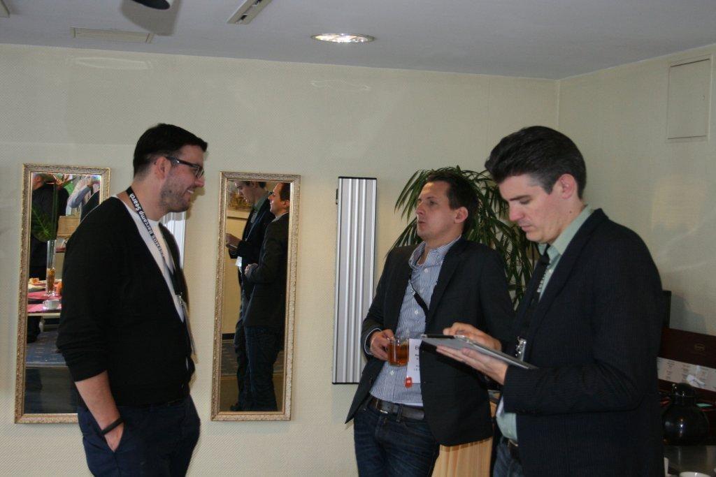 Diskussion Alexander Oelling (links), Manuel Weiss (Mitte), Jens Fauldrath (rechts)